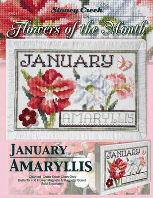 Flowers of the Month - January - Cross Stitch Pattern