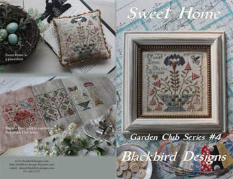Blackbird designs sweet home garden club 4 cross for Blackbird designs tending the garden