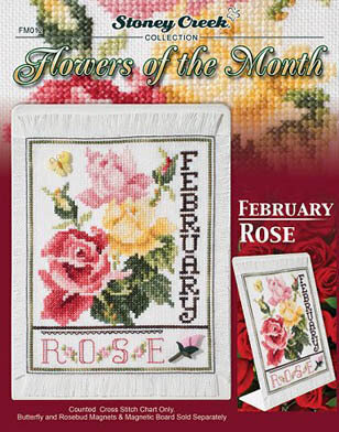 ellen maurerstroh wild roses bouquet cross stitch