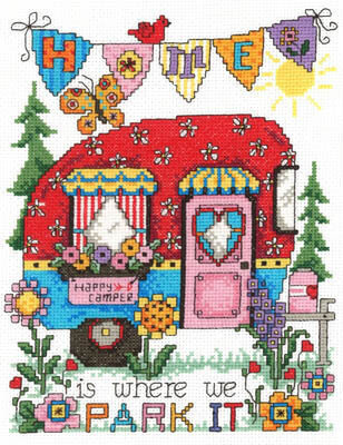 Happy Camper (2949) - Cross Stitch Pattern