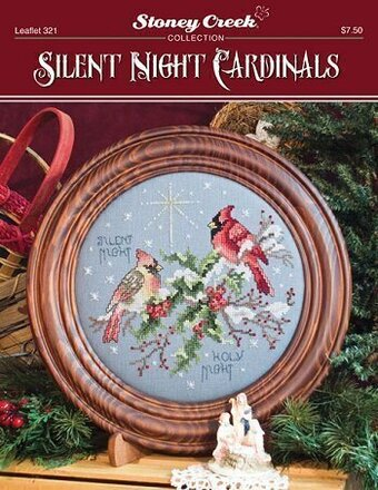 Silent Night Cardinals - Cross Stitch Pattern