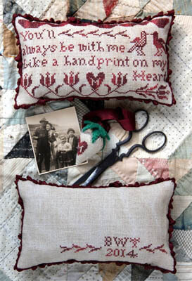 Handprint on My Heart - Cross Stitch Pattern