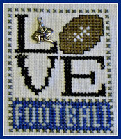 Love Football w/charm - Cross Stitch Pattern