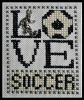 Love Soccer w/charm - Cross Stitch Pattern