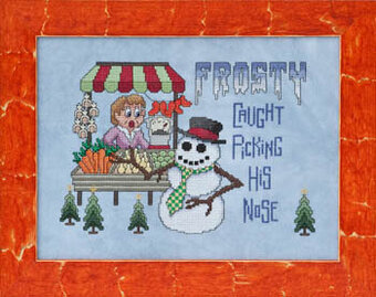 Frosty's Carrot Caper - Cross Stitch Pattern