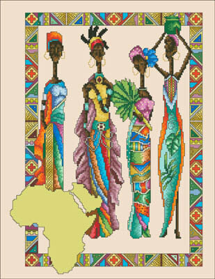 African Queens - Cross Stitch Pattern