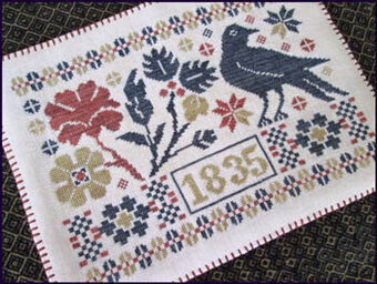 Coverlet Candle Mat - Cross Stitch Pattern