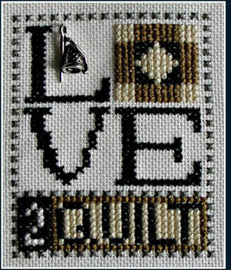 Love 2 Quilt (w/charm) Cross Stitch Pattern