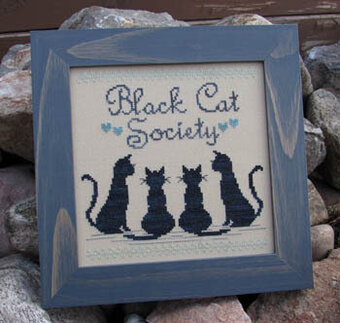 Black Cat Society - Cross Stitch Pattern