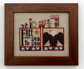 Old Glory Cross Stitch Chart and Free Embellishment