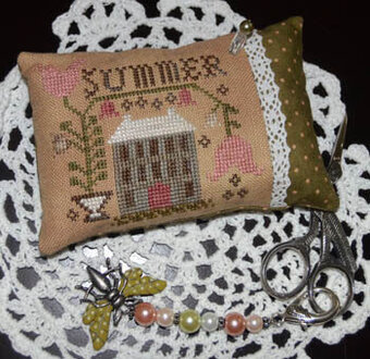 Summer Pin Pillow, A - Cross Stitch Pattern