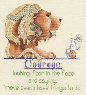 Courage - Cross Stitch Pattern