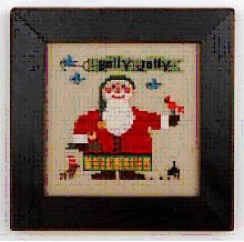 Wee Santa 2016 (with charm) - Cross Stitch Pattern