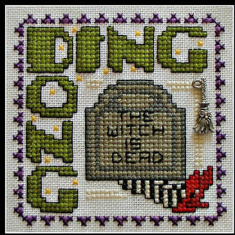 Ding Dong - Wordplay (with charm) - Cross Stitch Pattern