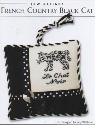 French Country Black Cat - Cross Stitch Pattern
