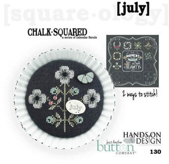 Chalk Squared - July - Cross Stitch Pattern