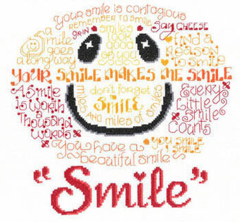 Let's Smile - Cross Stitch Pattern