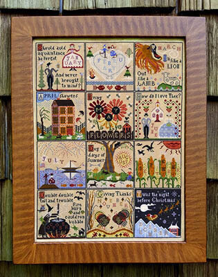 Year at Hawk Run Hollow, A - Cross Stitch Pattern