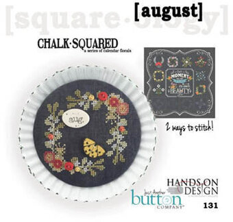 Chalk Squared - August - Cross Stitch Pattern
