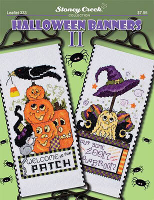 Halloween Banners II - Cross Stitch Pattern