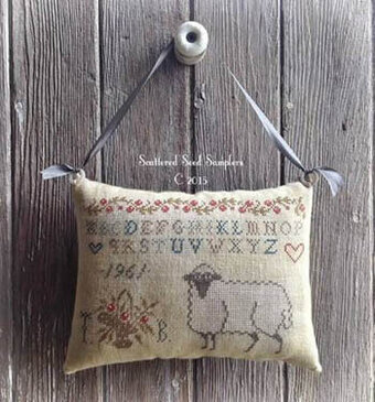 Pure in Heart Hanging Pinpillow - Cross Stitch Pattern