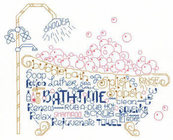 Let's Take a Bubble Bath - Cross Stitch Pattern