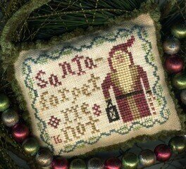 Forget Me Not (2016 Santa Ornament) - Cross Stitch Pattern