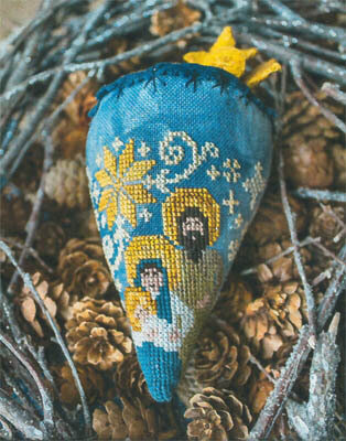 Nativity Berry (LINEN) - Cross Stitch Pattern