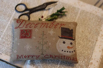 December 25th Merry Christmas Pinkeep - Cross Stitch Pattern
