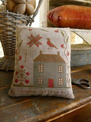 Redbud Cottage Pinkeep - Cross Stitch Pattern