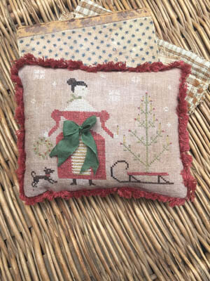 Deck the Halls Pinkeep - Cross Stitch Pattern