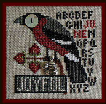 Joyful June (w/charm) - Cross Stitch Pattern