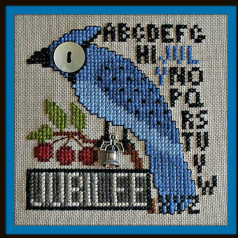 Jubilee July (w/charm) - Cross Stitch Pattern