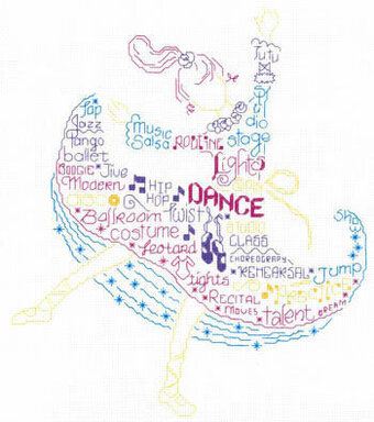 Let's Dance - Cross Stitch Pattern
