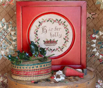 H is for Holly - Cross Stitch Pattern