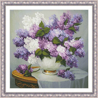 Lilac Romance - Cross Stitch Pattern