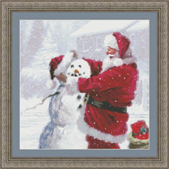 Santa's Snowman - Cross Stitch Pattern