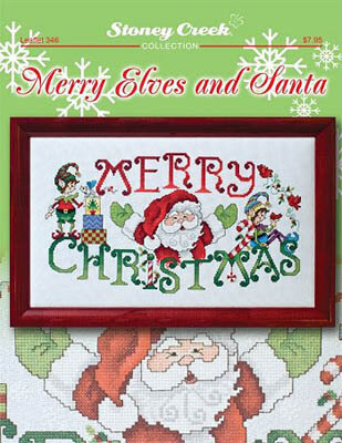 Merry Elves and Santa - Cross Stitch Pattern