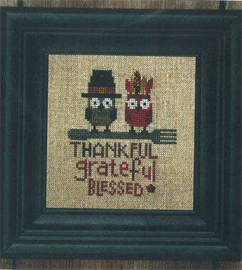 Thankful Owls - Cross Stitch Pattern