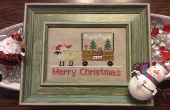 Merry Christmas - Sheep Peddler - Cross Stitch Pattern