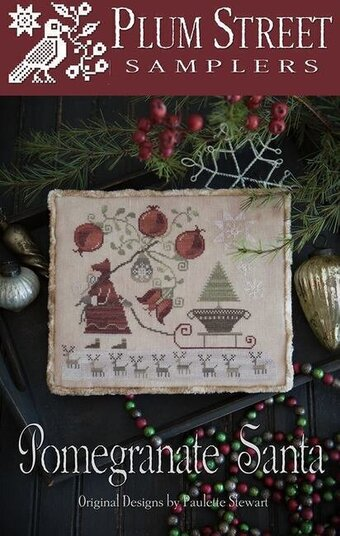 Pomegranate Santa - Cross Stitch Pattern
