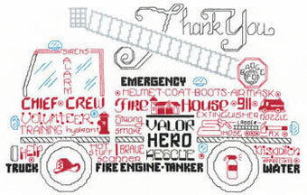 Let's Appreciate Firemen - Cross Stitch Pattern