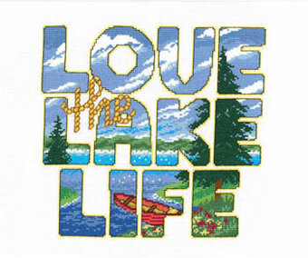 Love the Lake Life - Cross Stitch Pattern
