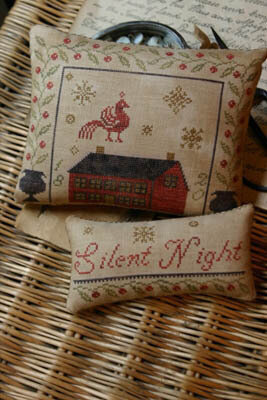 Silent Night Pinkeep & Ornament - Cross Stitch Pattern