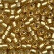 Mill Hill 16031 Frosted Gold Glass Pony Beads - Size 6/0