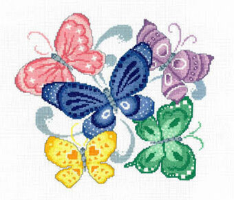 Spring Butterflies - Cross Stitch Pattern