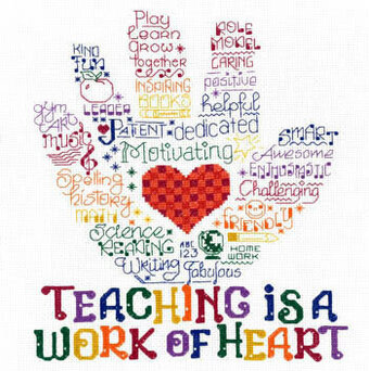 Let's Hug a Teacher - Cross Stitch Pattern