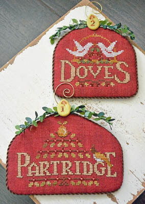 Partridge & Doves - 12 Days - Cross Stitch Pattern