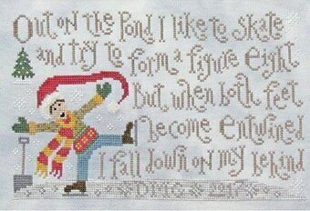 Skating Lesson - Cross Stitch Pattern
