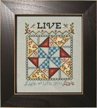 Live - Peace & Plenty Quilt Block - Cross Stitch Pattern